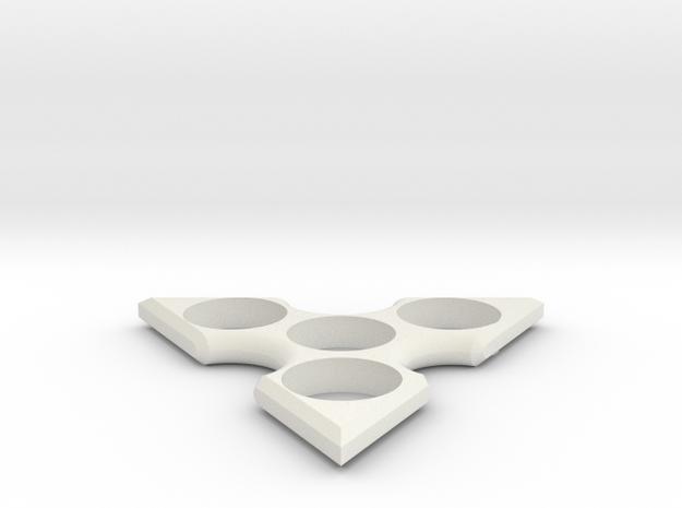 Tri Spinner in White Strong & Flexible
