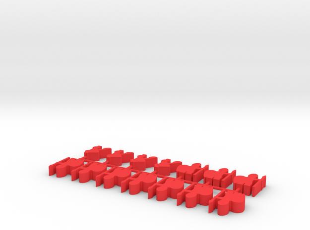 Custom Order 10-viking 10-catapults in Red Processed Versatile Plastic