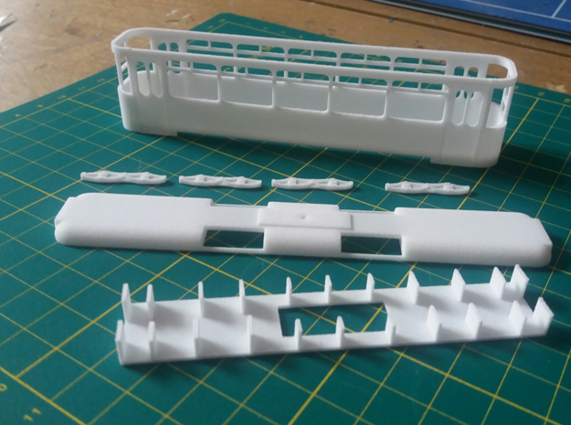 Eastbourne Tramway Car 12 in White Natural Versatile Plastic