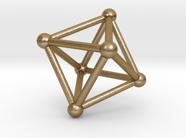 UNIVERSO Octahedron 28mm in Polished Gold Steel