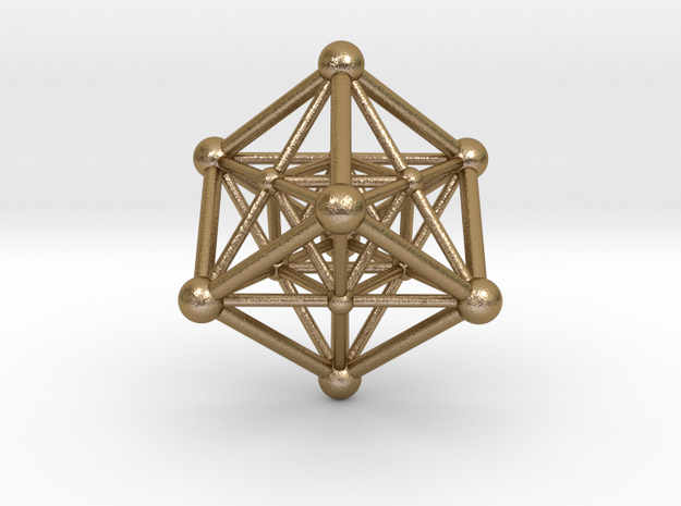 UNIVERSO Merkaba 45mm in Polished Gold Steel