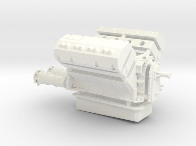 AJPE Hemi 1/12 dual plugs in White Processed Versatile Plastic