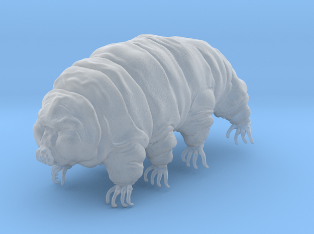 Tardigrade Water Bear Moss Piglet 3inch detailed in Smooth Fine Detail Plastic