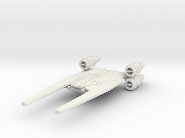 U-Wing in White Natural Versatile Plastic