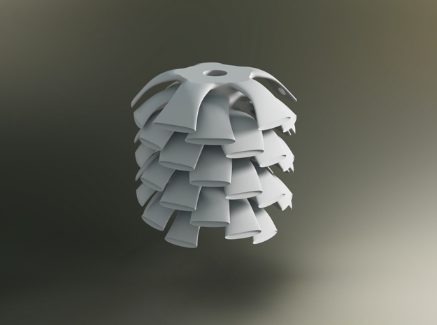 Organic Lamp Shade 2 in White Strong & Flexible