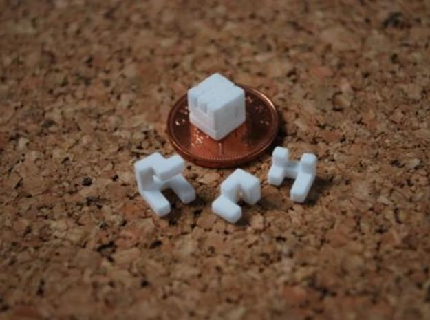 World's smallest cube in White Natural Versatile Plastic