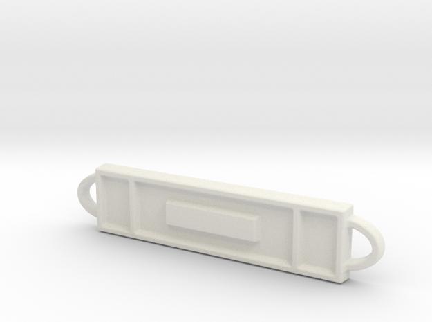 I.D.Bracelet Plaque-Small in White Natural Versatile Plastic