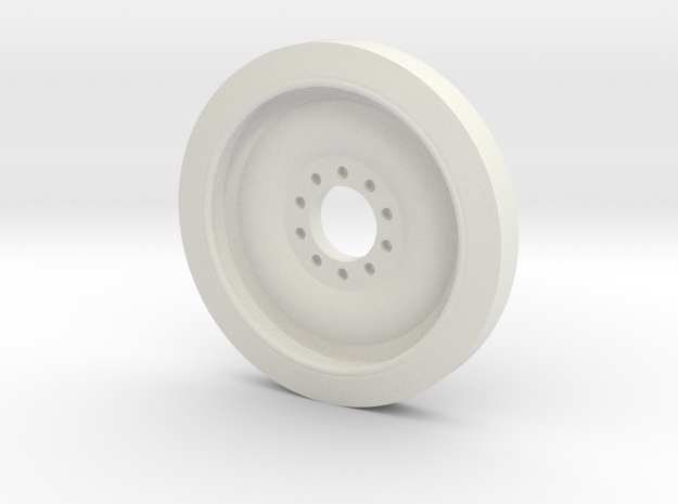 1/30 scale M113 Spare Wheel in White Natural Versatile Plastic