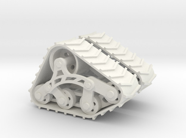 1/24 1/25 Trax offroad treads in White Strong & Flexible