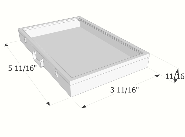 1:6 scale Portable Display Case in White Natural Versatile Plastic