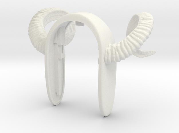 RAM KEYFOB  in White Natural Versatile Plastic