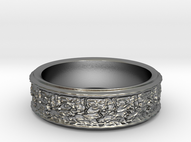 Ring 5 Innen 42 in Polished Silver