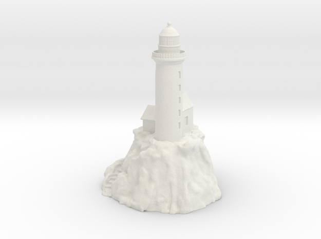Non-scale Lighthouse in White Natural Versatile Plastic
