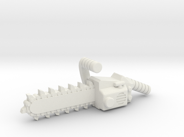Chainsaw, 5mm grip in White Natural Versatile Plastic