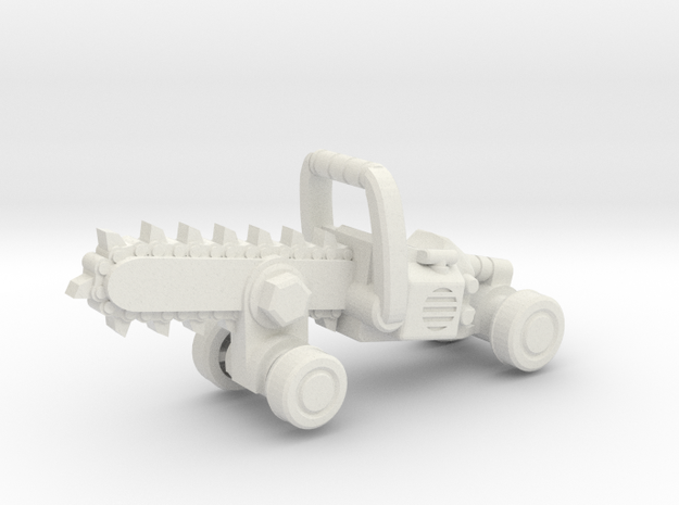 Chainsaw Car, Hot Wheels Size in White Strong & Flexible