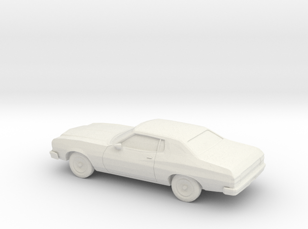 1/64 1974 Ford Torino in White Strong & Flexible