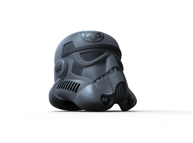 Imperial Shadow Trooper Helmet 3d printed