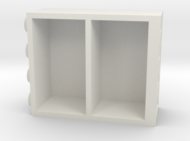 Building Block Book Case in White Strong & Flexible