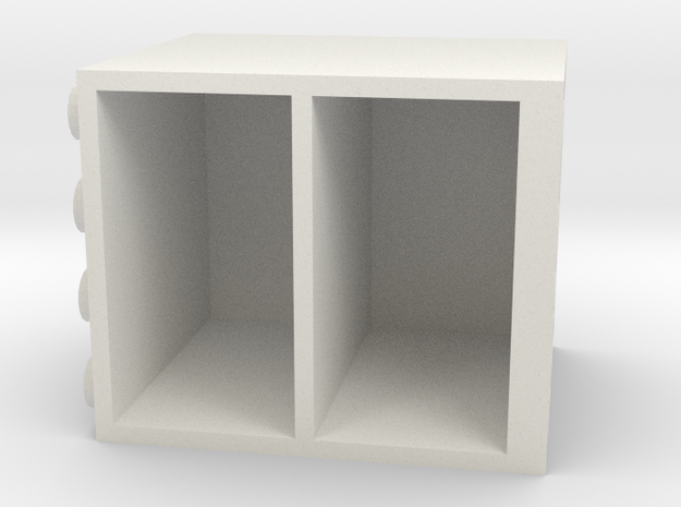 Building Block Chest of Drawers in White Natural Versatile Plastic