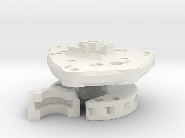 Clamp And Base Plate in White Natural Versatile Plastic
