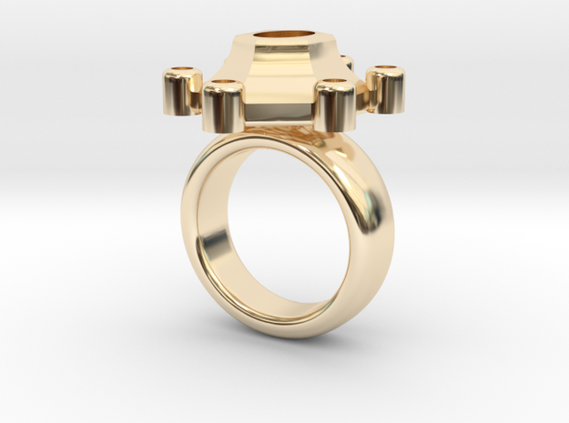 Ring Polaris in 14k Gold Plated Brass: 5.5 / 50.25