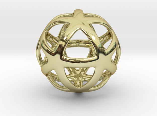 Math Art - Star Ball Pendant in 18k Gold Plated Brass