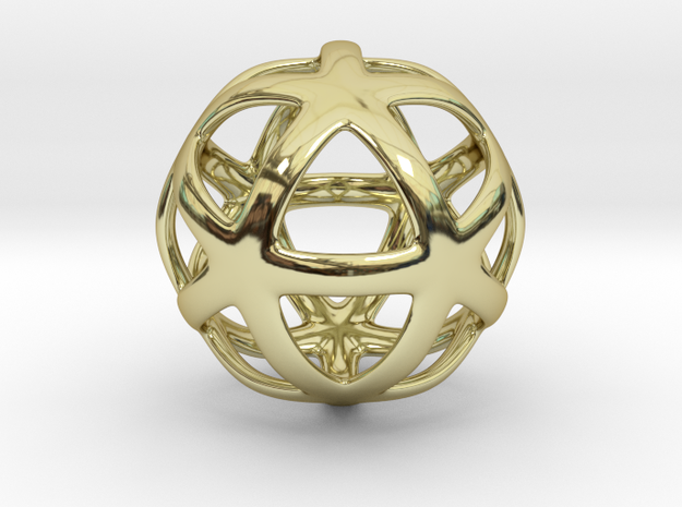 Math Art - Star Ball Pendant in 18k Gold Plated