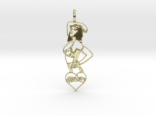 Katy Perry Pendant in 18k Gold Plated Brass