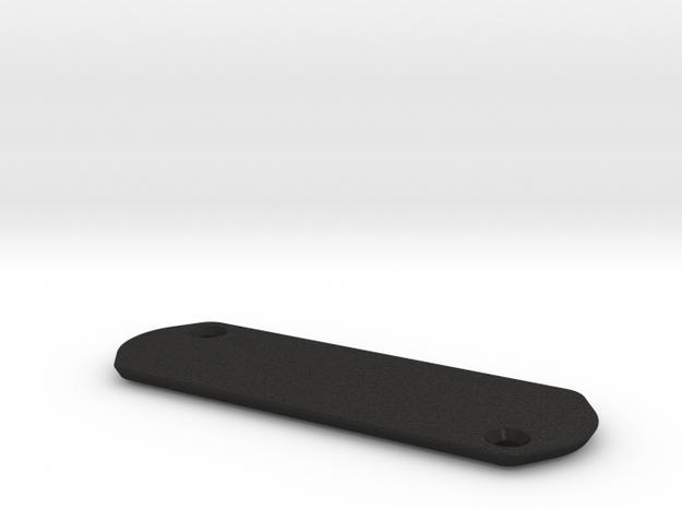 Trek Madone Series 9 Access Plate - Blank in Black Acrylic