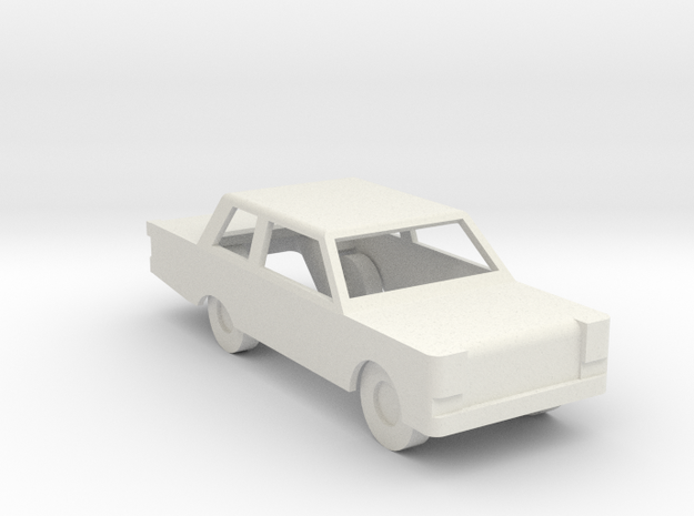 Car Generic with windows cut out in White Natural Versatile Plastic