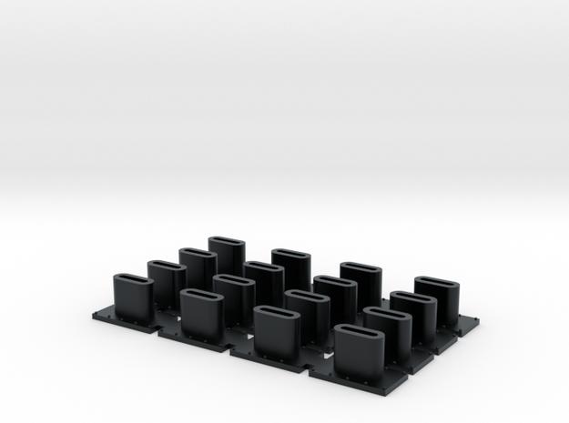 Paducah Rebuild Smokestack (N/HO) in Black Hi-Def Acrylate: 1:160 - N
