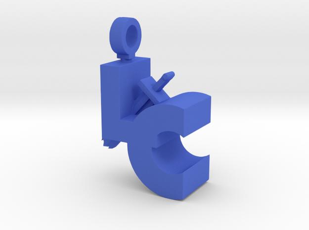 LC Sword Pendant in Blue Processed Versatile Plastic
