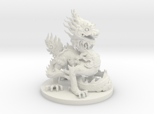 Imperial dragon in White Natural Versatile Plastic
