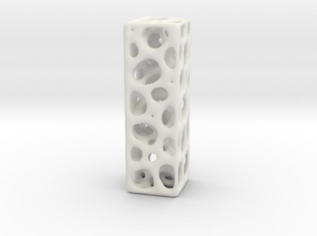 Voronoi Letter ( alphabet ) I in White Natural Versatile Plastic