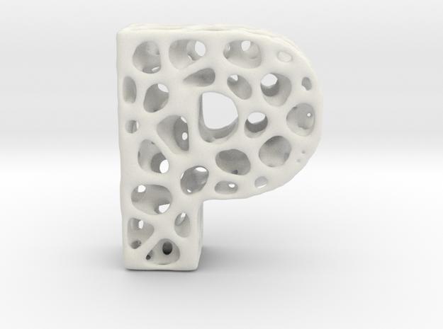 Voronoi Letter ( alphabet ) P in White Strong & Flexible