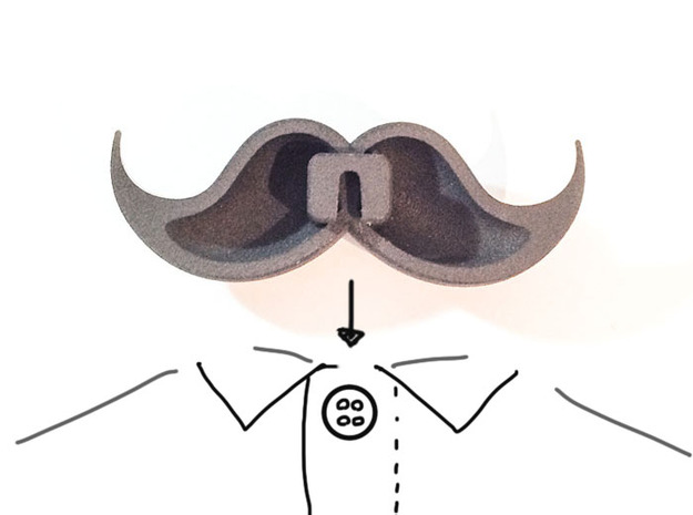 Bow_tie_mustache 3d printed