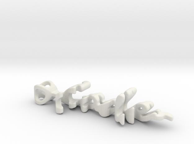 Twine Code/Lyoko in White Natural Versatile Plastic