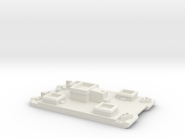 1/350 Siebel Ferry 40 Light Flak in White Strong & Flexible