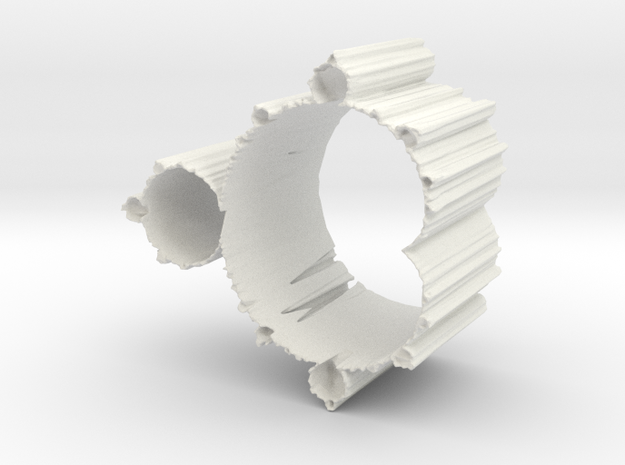 Mandelbrot Vase 1 Without Base in White Natural Versatile Plastic