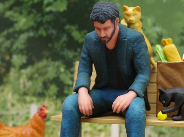 An Itty Bitty Sad Keanu 3d printed Photography by toy builder idk (from kotaku.com)