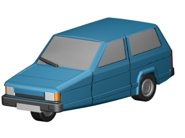 Reliant Robin (Z-Scale 1:220) in Smooth Fine Detail Plastic