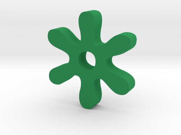 Asterisk in Green Processed Versatile Plastic