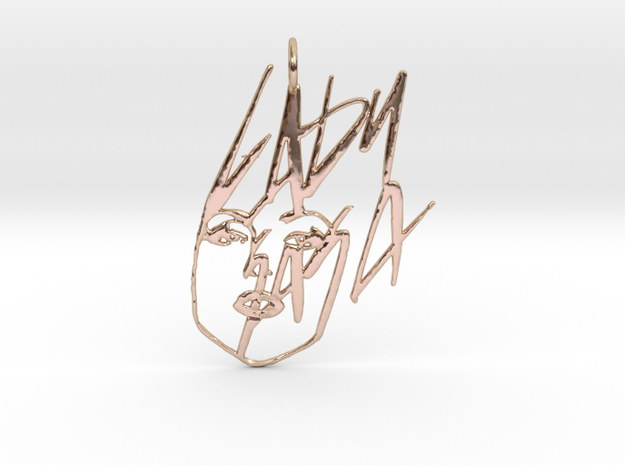 Lady Gaga Pendant in 14k Rose Gold Plated