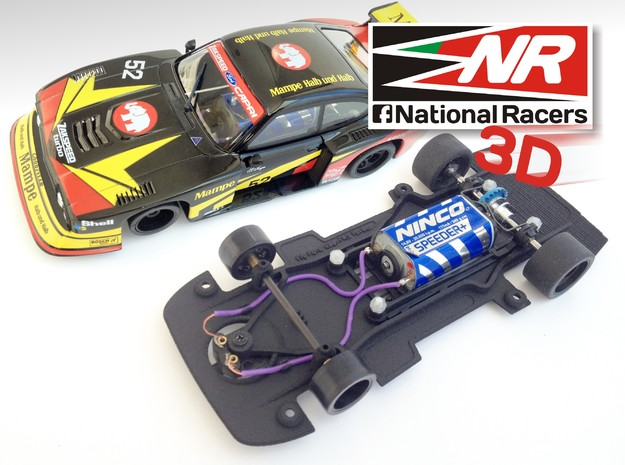 3D chassis for Fly Ford Capri RS Turbo (Combo) in Black Strong & Flexible