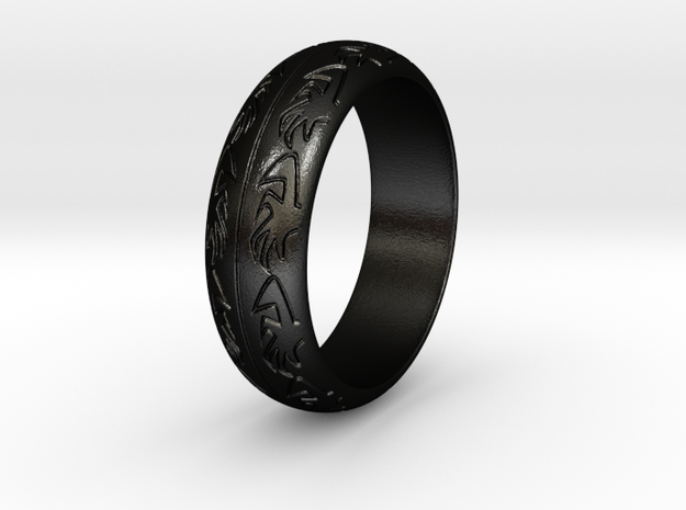 Ray F. - Ring in Matte Black Steel: 3.5 / 45.25