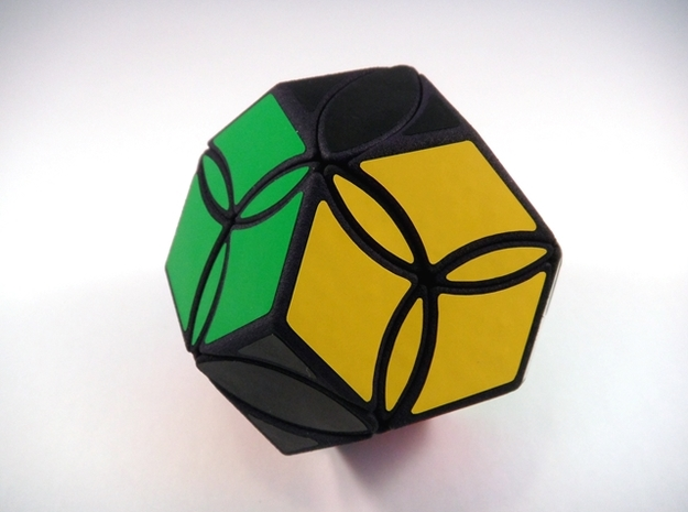 Poison Ivy Octahedron Puzzle in White Strong & Flexible