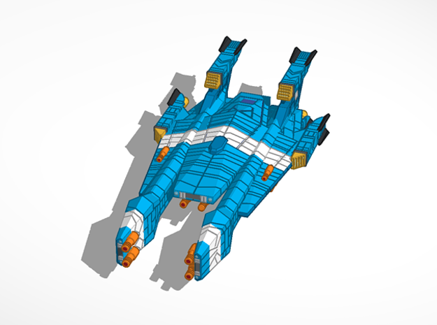 Experimental Haydron Dreadnought in Blue Processed Versatile Plastic