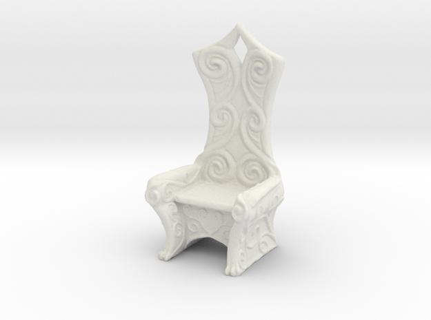 Ornate Eldar Chair  (Elvish Style Chair)) in White Natural Versatile Plastic