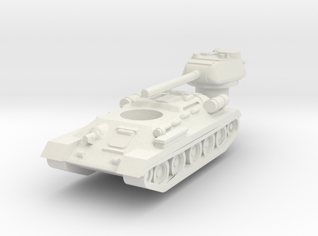 T34-85 1/350 in White Natural Versatile Plastic
