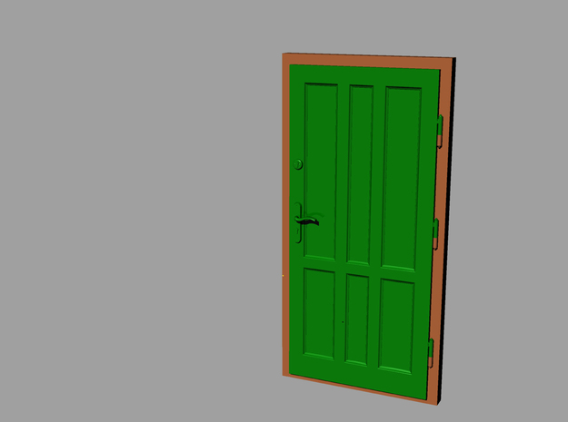 0 scale 1:43 doors ( 2pcs set) 3d printed